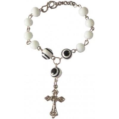 Elegant White Christ cross charm fashion Religious Bracelet