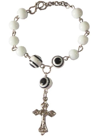 Elegant White Christ cross charm fashion Religious Bracelet