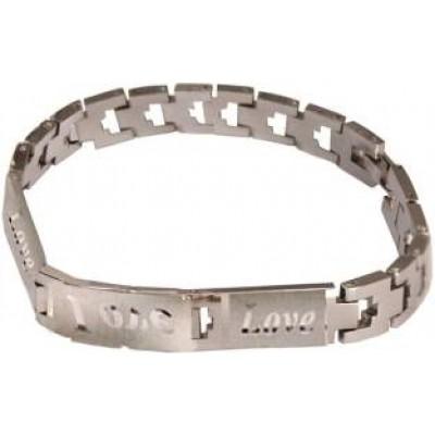 Elegant  Silver Love Bracelet