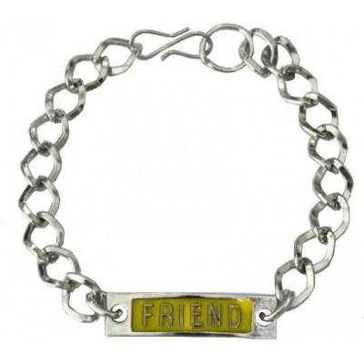 Elegant  Yellow::Silver  Friendship day Special Stylish link Fashion Chain Bracelet