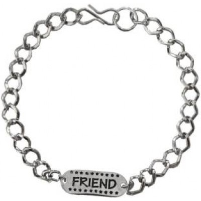 Elegant  Black::Silver  Friendship day Special Stylish link Fashion Bracelet