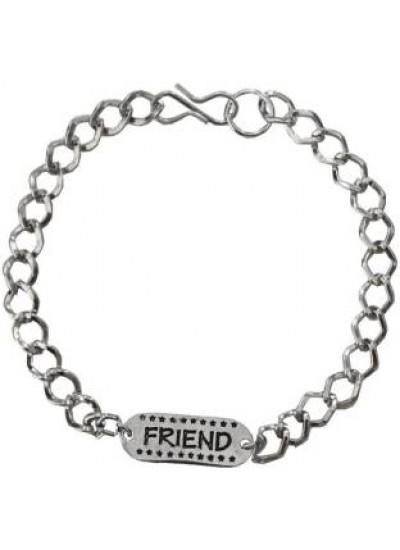 Elegant  Black::Silver  Friendship day Special Stylish link Fashion Bracelet