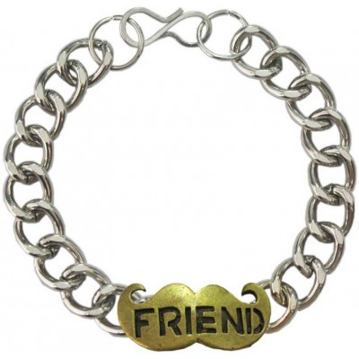 Elegant  Silver::Bronze  Friendship day special Moustache Friendship Fashion Bracelet