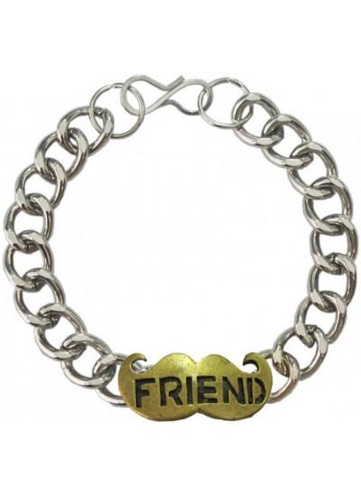 Elegant  Silver::Bronze  Friendship day special Moustache Friendship Fashion Bracelet
