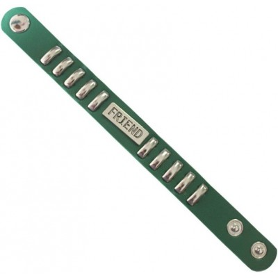 Elegant Green Fashionable Leather Friend wristband Fashion Leather Bracelet