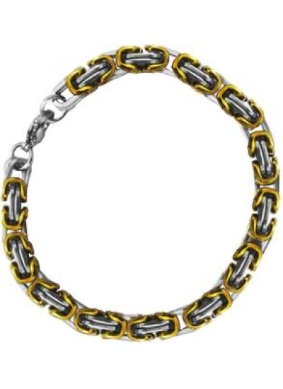 Gold::Silver Double Link Chain Fashion Stainless steel Bracelets
