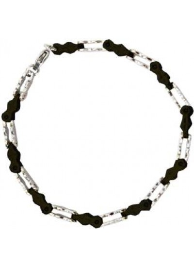 Black::Silver Box Byzantine Chain Link Fashion Stainless steel Bracelets