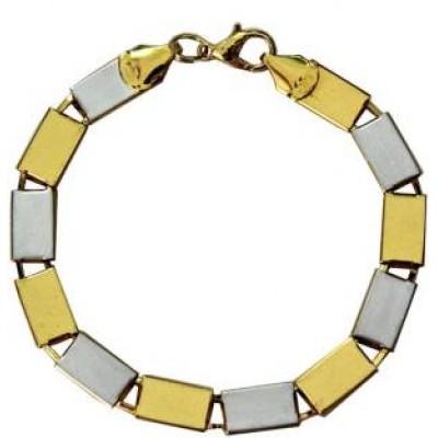 Gold::Silver  Flat Plating Fashion Chain Bracelets