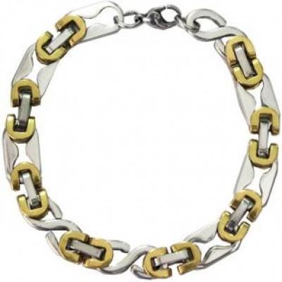 Gold::Silver  Box Byzantine Chain LinkFashion Chain Bracelets
