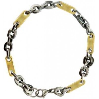 Gold::Silver  Box Byzantine Fashion Chain Link  Bracelets