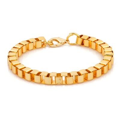 Mens Jewellery Gold  Box Chain Fashion Chain Link  Bracelet