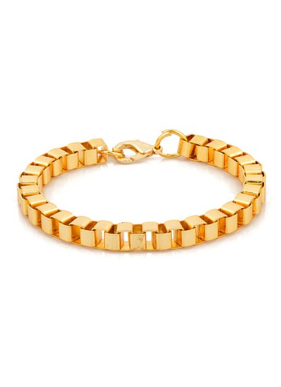 Mens Jewellery Gold  Box Chain Fashion Chain Link  Bracelet