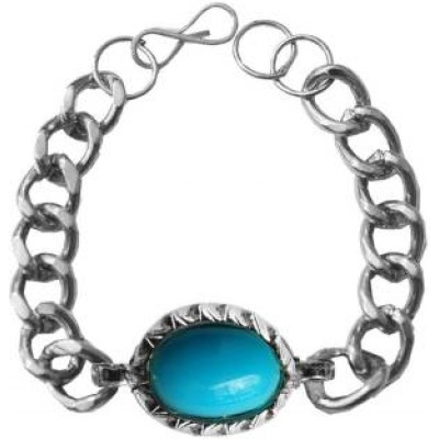 Silver::Blue  Salman Khan Inspired design Fashion Chain Bracelets