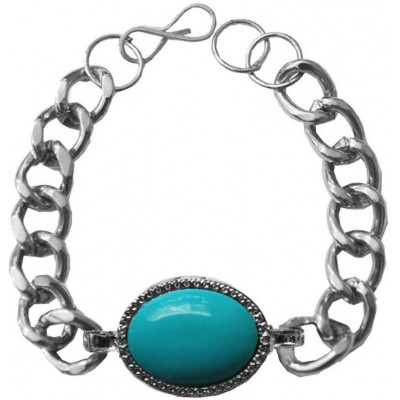 Stylish   Silver::Blue  Salman Khan Inspired design Bracelet