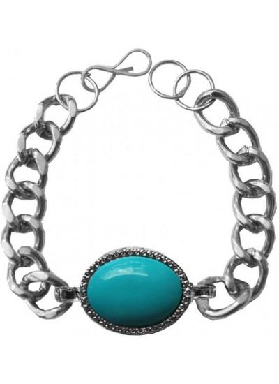 Stylish  Silver::Blue  Salman Khan Inspired design Bracelet