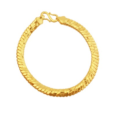 Menjewell Simple But Classic Gold Imported Quality Snake Design Bracelet