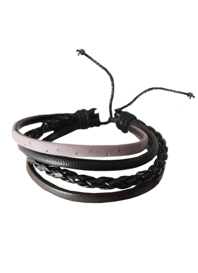 Black Leather Fashion Leather Bracelet