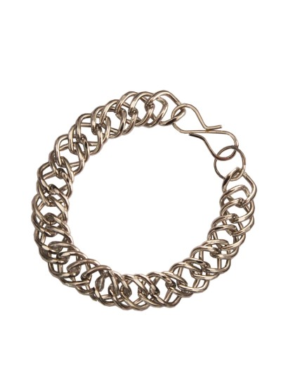 Silver Double Link Fashion Stainless steel Bracelets