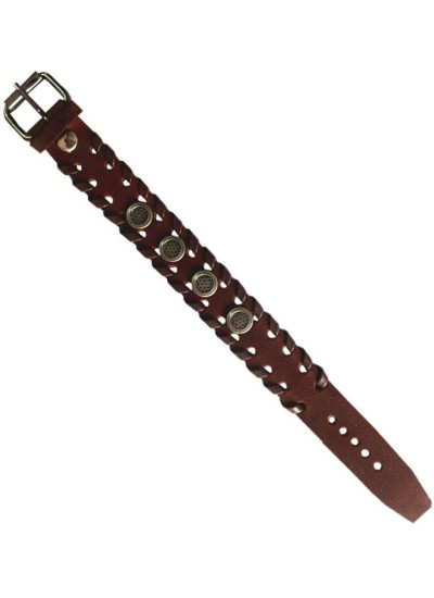 Elegant Brown Fashion Leather Bracelet