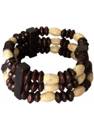 Brown Wood Beads Stretchable Fashion wooden Bracelet