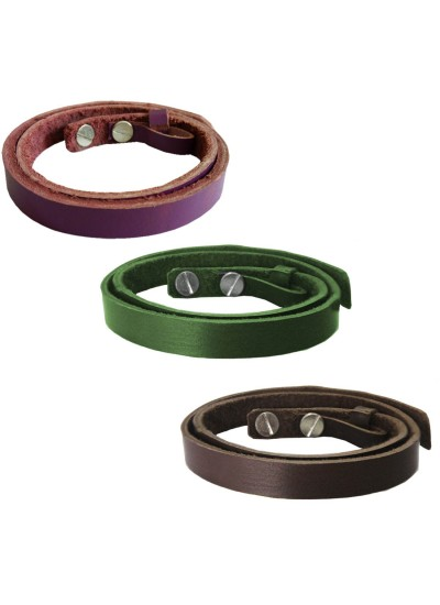 Menjewell Classic Genuine Leather Multicolor Stylish Wrist Band Combo