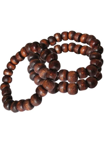 Elegant Brown Wood Bead Stretchable combo Wooden Bracelets