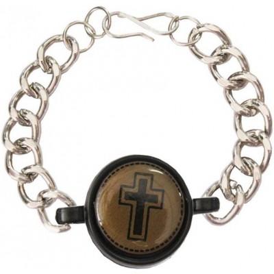 Mens Jewellery  Multicolor  Jesus Christ Cross Religious Bracelet