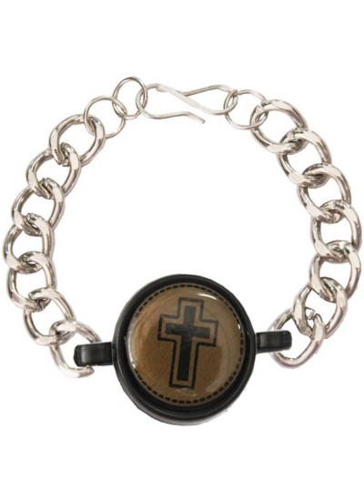 Mens Jewellery  Multicolor  Jesus Christ Cross Religious Bracelet
