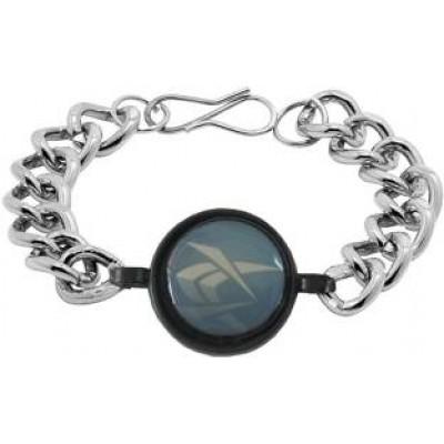 Silver::Blue Link Fashion Stainless steel Bracelets