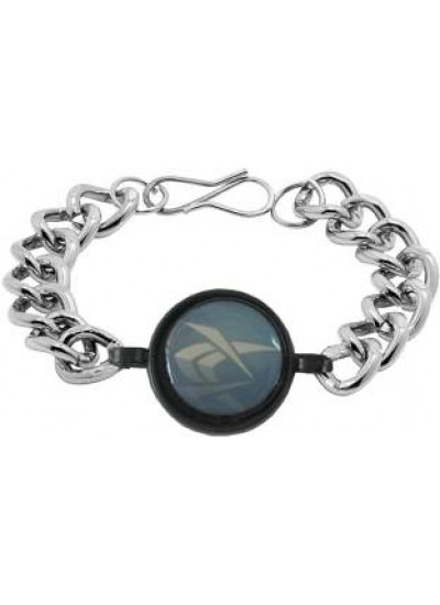 Silver::Blue Link Fashion Stainless steel Bracelets