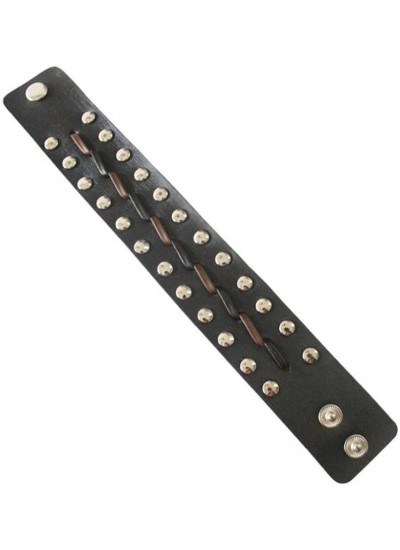 Elegant Black Fashion Leather Bracelet