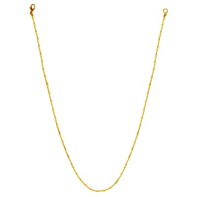 Menjewell Unique Slim Silver Gold Tone Italian Stainless Steel Rectangular Design Chain Necklace For Men-17 inch