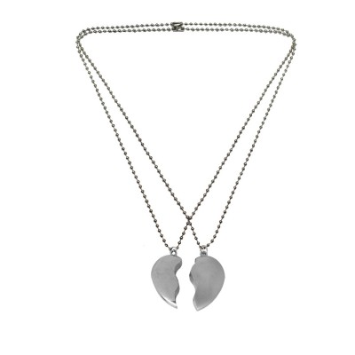 Menjewell Friendship Day Special Heart Jewellery Gift Collection One For Me & One For U Magnetic Two Half Piece Pendant For Men & Boys