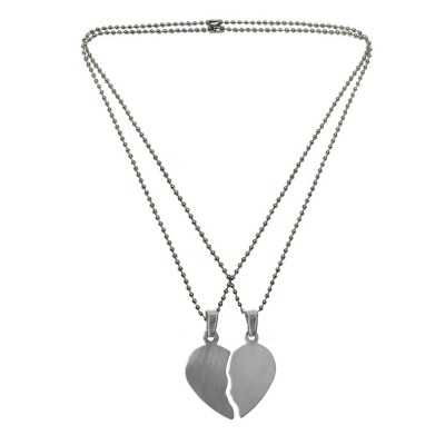 Menjewell Friendship Day Special Heart Jewellery Gift Collection One For Me & One For U Two Half Piece Pendant For Men & Boys
