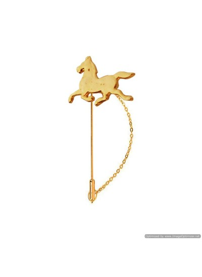 Gold Plated Running Horse Lapel Stick/Lapel pin/Brooch/Coller Pin/Shirt Stud For Men