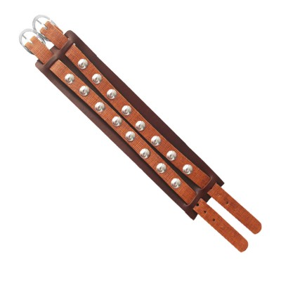 Menjewell Stylish Leather Jewelry  Multicolor  Antique Design Three In One Bracelet