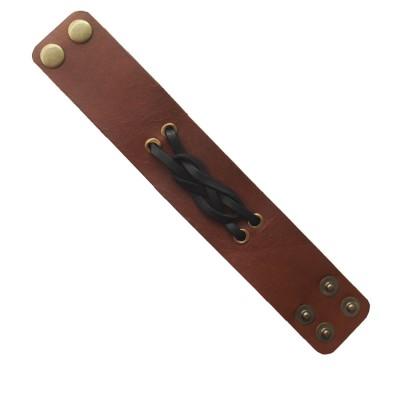 Menjewell Stylish Leather Jewelry  Multicolor  Rope Wrist Band Design Bracelet