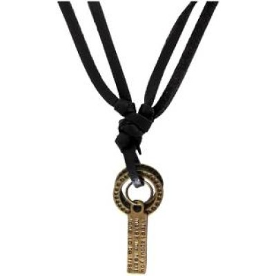 Elegant  Bronze  Fashion Pendant With Leather String