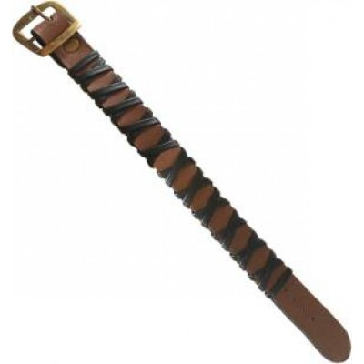 Black::Brown  Leather Fashion Bracelet