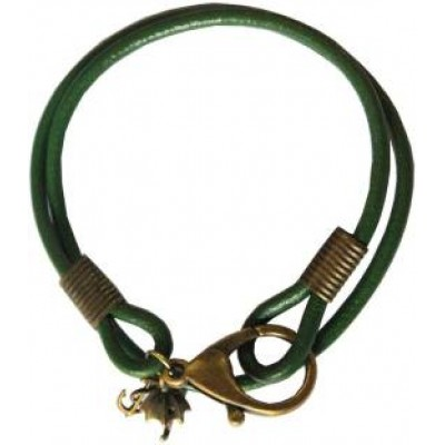 Men Fashion Green  Multilayer Charm Fashion Leather Bracelet