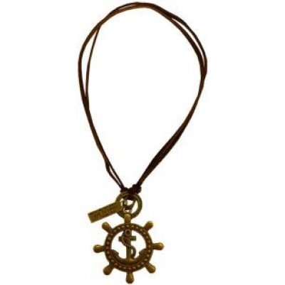 Bronze::Brown  Anchors Rudder Design Pendant