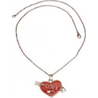 Elegant  Red::Silver  Heart shape Fashion Pendant