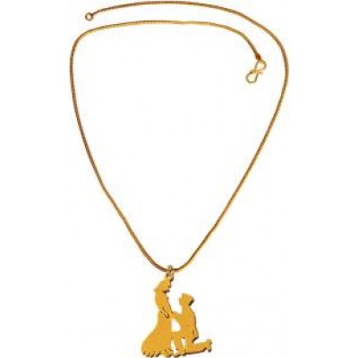 """New Collection  Gold  Valentine Day Special Precious Moments """"Will You Marry Me"""" Boy Proposing to Girl Pendant"""