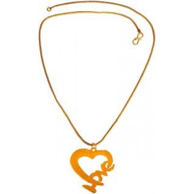 New Collection  Gold  Valentine Day Special Love Heart Design Pendant