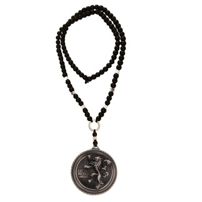 Menjewell New Collection Game of Thrones  Black:Gray  Lannister Badge Lion Pendant MKPn0317033