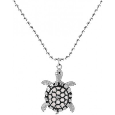 Elegant  Silver::Black  Turtle Fashion  Pendant