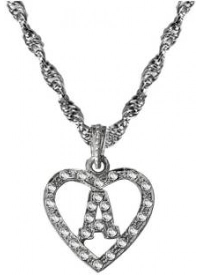 Elegant Silver A- alphabate Fashion Pendant