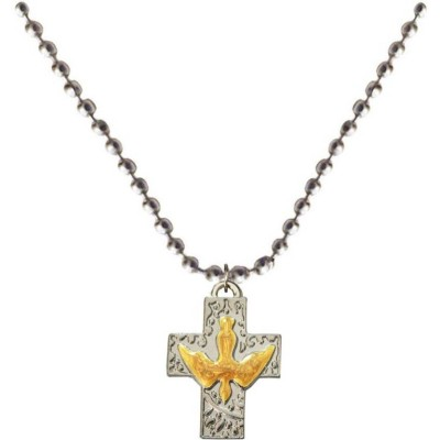 Elegant  Yellow::Silver  Christ cross Fashion Pendant