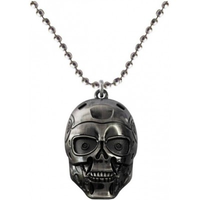 Elegant  Grey  robotic skull Fashion Pendant