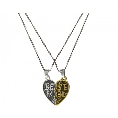 Elegant Gold::Silver Breakable Heart Fashion Broken Heart Dual Pendants
